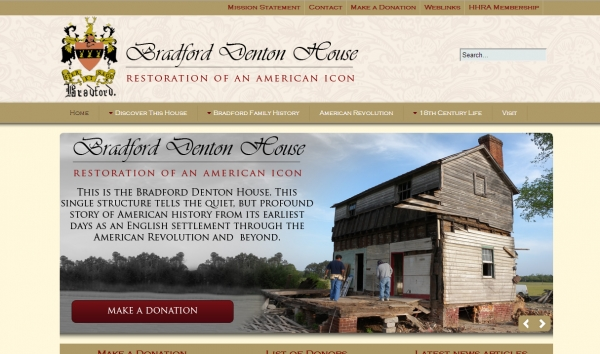 Bradford Denton House - Restoration of an American icon